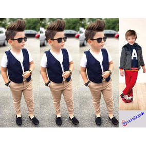 Pantalones De Niño Skinny Slim Fit Tubito Fashion Drill Moda