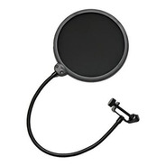 Pop Filter Tela Anti Sopro P/ Microfone C/ Haste Flexível