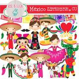 Kit Imprimible Mexico Fiesta Mexicana Clipart Imagenes C29