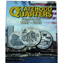Álbum Moeda Eua States Quarter Dollar 1999 A 2009 0,25 Cent.