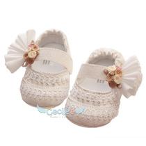 Hermoso Zapato Bautizo Elegante Niña Exclusivos Pique 16-10