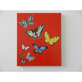 Mariposas. Pintura Acrílica Sobre Tela En Bastidor 50cmx60cm