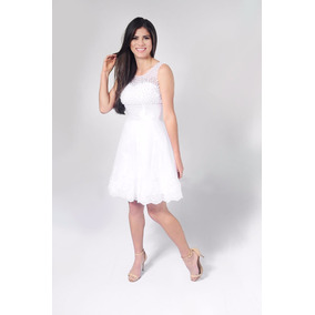 Vestido Noiva Curto Branco Lindo Pronta Entrega Envio Já