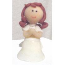 Souvenir De Comunion Bautismo Angelitos Nenas De Porcelana