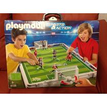 Cancha Futbol 4 Futbolistas Playmobil