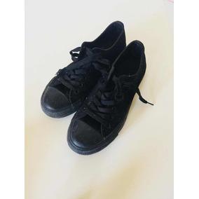 Zapatos Tipo Converse Negro Talla 39 Deportivos Usados