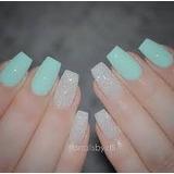 Kit 100 Uñas Acrilicas Nail Tips For Gel Manicure