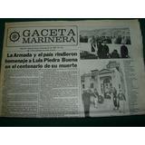 Diario Gaceta Marinera 18/8/83 Homenaje Luis Piedra Buena