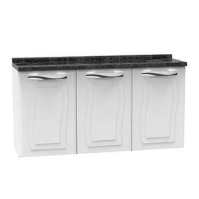 Balcão De Cozinha Ipanema Fit 3 Portas Branco - Colormaq