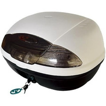Baul Moto Portaequipaje 42 Lts Color Blanco En Freeway Motos