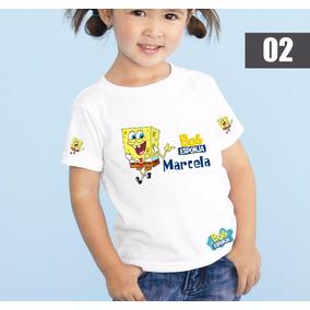 Camisa Bob Esponja Aniversario Adulto E Infantil