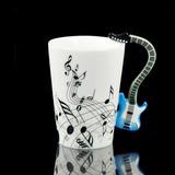 Mug / Taza / Pocillo Con Asa De Guitarra. Exclusivo! Azul