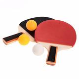 Set Paletas Ping Pong Tenis Mesa 3 Pelotas 56914/ Fernapet