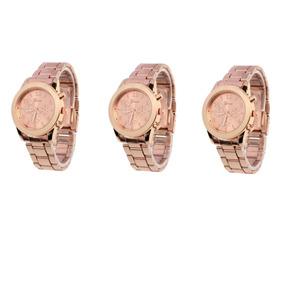 10ac682d33e Kit 3 Relogios Geneva - Relógios De Pulso no Mercado Livre Brasil