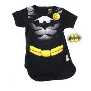 Pañalero Batman Musculos Con Capa Original Disfraz Ropa Bebe