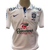 Camisa Polo Da Seleçao Brasileira Com Patrocinadores - Futebol no ... 121d042d2c8b8