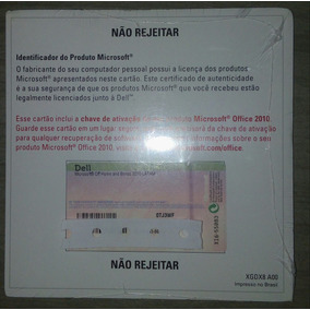 Licença/selo/office 2010 Home Business Oem 32/64 Bits