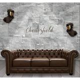 Estofados Chesterfield 3 X 2 Couro Legítimo Natural