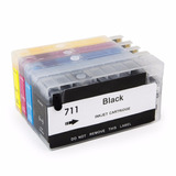 Cartuchos Hp 711 Recarregável Chip Full Plotter T520 T120 3