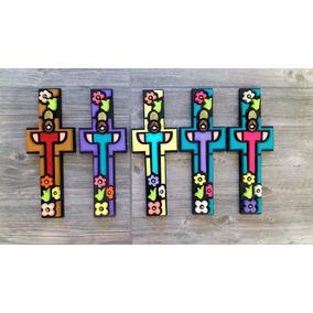 Cruz En Mdf Para Colgar(ideal Para Comunión,bautizo,decorar)
