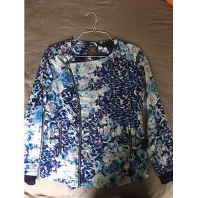 Blazer Azul Estampado Kardashian Collection