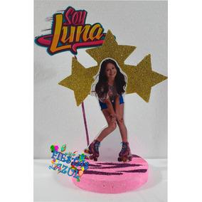 Soy Luna Adorno Para Torta + Cartel Feliz Cumple Candy Deco