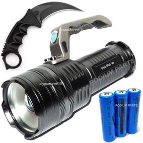 Lanterna Led Holofote Mais Forte Que X900 Tatica +brinde