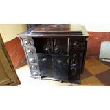 Raro Antiguo Mueble De Maquina De Coser 1910