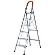 Escalera Aluminio Tijera Reforzada 6 Escalones 1,9m Kulbart
