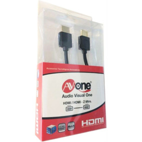 Cable Hdmi Slim 2m Av-one Soporta 4k.