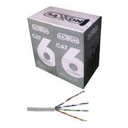 Bobina De Cable De Red Saxxon Utp Cat6 305 Mts Blanco