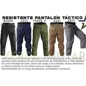 Pantalón Táctico De Vestir Gabardina Bolsas De Cargo Colores