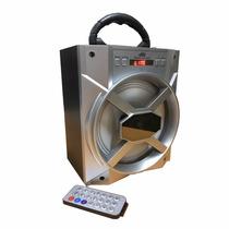 Bocina Bluetooth Radio 15w Control Remoto Usb Sd Fm Aux 3819