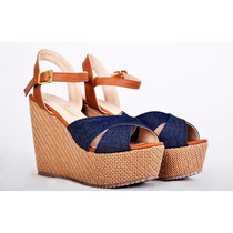 Sandalias Con Plataforma Marca Altoretti ¡diseño Exclusivo!