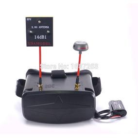 Óculos Fpv Rc-009 4.3 40ch C/ Bateria 2200mah E Receptor