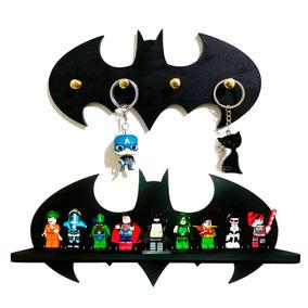 Prateleira Batman Exposição Decoração + Porta Chaves Batman