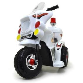 Mini Moto Triciclo Elétrica Infantil 6v Branco C/ Immetro