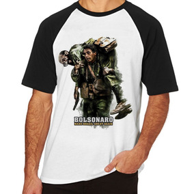 Camiseta Camisa Mang Curta Tamanho Bolsonaro Resgate Eneias