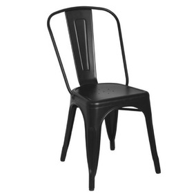 Silla Tolix Vintage, Negro Semimate