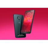 Moto Z3 Play Onyx 128gb + Snap Projetor + Snap Tv/powerbank