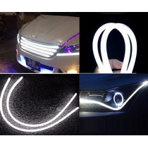 Fita De Led Flexível Farol Drl+ Seta Luz 60 Cm Carro Moto