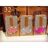 Capa Case Moto X Play X3 Xt1563 Minnie Mickey Strass Perolas