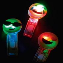 Pulseira De Led Carinhas Emoji Kit 10 Unidades