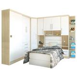 Dormitório Modulado Solteiro 7 Peças Eucamóveis Smart Bm224