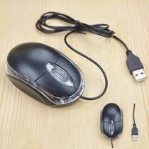 Mouse Wireless Com Fio Preto E Rosa P/ Pc E Notebook