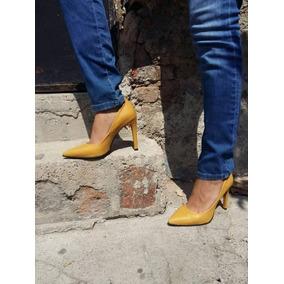 Zapatillas Dama Zapatos Mujer Stiletto Color Camel
