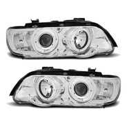 Farol Angel Eyes Led Bmw X5 E53 1998 A 2003 Cromado