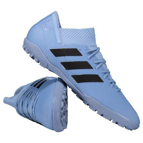Chuteira adidas Nemeziz Messi Tango 18.3 Tf Society Azul por Futfanatics d1f1a4a95d61a