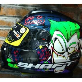 Casco Motociclísta Tipo Pista Integral Shaft Joker Green