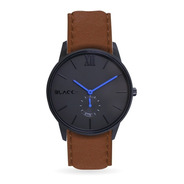 Reloj Black21 Poker Blue Tan - Malla De Cuero Marron